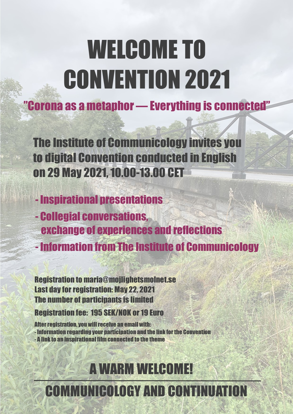 Invitation to Convention May 2021